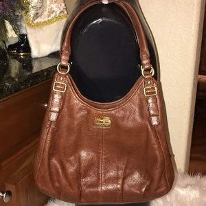 Coach Madison brown shoulder bag, preowned
